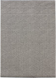 Modern Grey Rug Check Pattern Flat Weave Floor Carpet Hallway Non Slip Room Mat