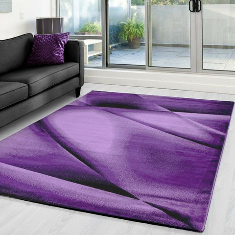 Modern Purple Rug for Living Room Abstract Pattern Mat Lounge Floor Carpets Hall