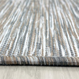 Modern Rug Indoor Outdoor Taupe Pattern New Carpet Small Large Hard Wearing Mat