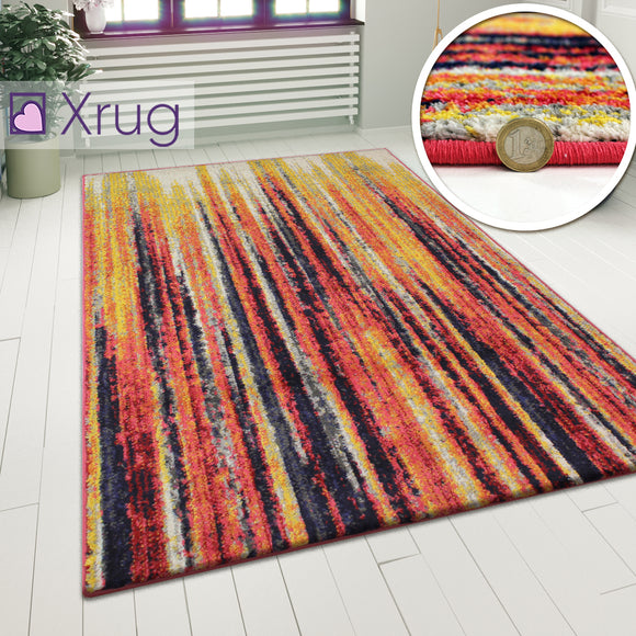 Multi Colour Rug Striped Pattern Floor Mat Smal Large Living Room Bedroom Carpet