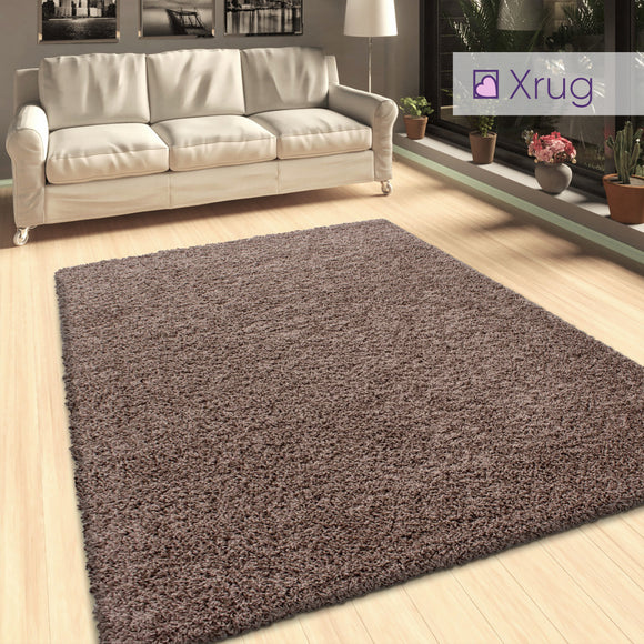 Brown Beige Shaggy Mocca Colour 50mm long Pile Deep Pile Fluffy Carpet for Living Room Bedroom Extra Large Small New
