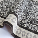 Grey Trellis Rug Oriental Pattern Carpet Small Large Woven Low Pile Living Room Mats