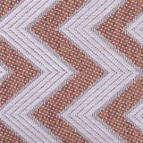 Outdoor Garden Rug Terracotta White Cream Zig Zag Carpet Small Large Indoor Mat