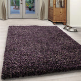 Purple Grey Beige Rug Modern Shaggy Carpet Soft Deep Long High Pile Fluffy Runner Living Room Bedroom Area Lounge Small X Large Runner Hallway Floor Mat