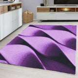 Contemporary Modern Abstract Rug Purple Black Patterned Carpet Small Extra Large XL Living Room Bedroom Area Lounge Mats Woven Polypropylene Heatset Short Low Pile 120x170 200x290 160x230 80x150 80x300