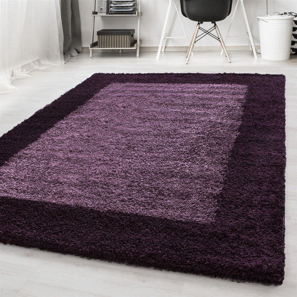 Purple Rug Modern Shaggy Floor Lila Carpet Soft Fluffy Living Room Area Mat New