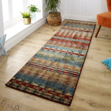 Runner Rug Striped Multicoloured Long Carpet Hallway Mat Colorful Modern Rug