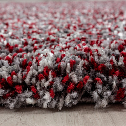 Red Grey Cream White Rug Modern Shaggy Carpet Soft Deep Long High Pile Fluffy Runner Living Room Bedroom Area Lounge Small X Large Runner Hallway Floor Mat