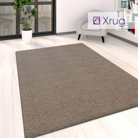Washable Rug Brown Flat Weave Carpet Large Small Runner Living Room Bedroom Mat