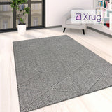 Grey Washable Rug Flat Weave Carpet Large Small Runner Living Room Bedroom Mat