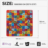 Childrens Rug Snakes And Ladders Kids Playroom Mat Machine Washable Anti Slip Non Slip Rugs