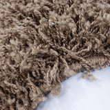 Fluffy Rug Modern Beige Shaggy Long Pile Mats Small X Large Lounge Carpet Round