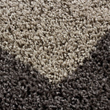 Taupe Shaggy Rug Soft Fluffy Bedroom Floor Carpet Small Large Hallway Runner Mat