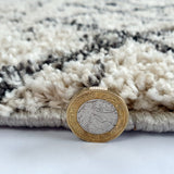 Thick Pile Rugs Patterned Grey Middle Size Soft Hard Wearing Rugs Area Mats
