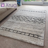 Modern Rug Cream White for Living Room Bedroom 120x170cm Thick Pile Rug Mat Carpet