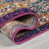 Blue Pink Yellow Rug Carpet Mat Living Room Dining Bedroom Area Lounge Floor Hall Small Extra Large Big New Contemporary Modern Designer Traditional  Oriental Vintage Pattern Polypropylene Woven Short Low Pile Rectangle Size 100x150 133x185 200x275