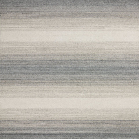 Wool Rug for Living Room Bedroom Handicraft Striped Grey Cream Middle Pile Natural Carpet Mat Thick