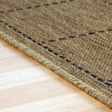 Kitchen Rug Brown Flat Weave Non Slip Sisal Look Heavy Duty Hard Wearing Woven Carpet Modern Checked Pattern Plain Pattern Small Large Hall Runner Polypropylene Mat 40x60 50x80 60x110 60x180 60x230 80x150 120x160 160x225