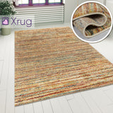 Rug For Living Room Multicoloured Rugs Modern Pastel Beige Terracotta Carpet Mat