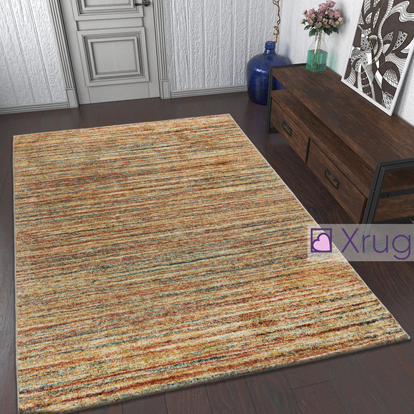 Beige Cream Rug Terracotta Red Yellow Blue Mottled Pattern Carpet Runner Large Mats