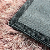 Blush Pink Rug Modern Shaggy Carpet with Plain Sparkling (Shimmer) Pattern Soft Deep Long High Pile Fluffy Living Room Bedroom Polyester Area Lounge Small Large Floor Mat 60x110cm 80x150cm 120x170cm 160x230cm