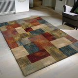 Modern Rug Contemporary Geomtric Colorful Designer Pattern Multicoloured Floor Rug Large Small Runner for Living Room Bedroom