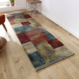 Multicoloured Runner Rug Hallway Carpet Colorful Mat Long Rugs for Living Room Bedroom