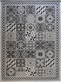 Grey Trellis Rugs Flat Weave Woven Black Patterned Rugs Kitchen Dining Room Hallway Area Mats