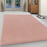 Blush Pink Rug Modern Design Carpet Woven Plain Large Small Runner Bedroom Mat