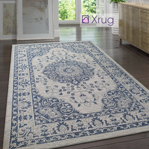 Cotton Washable Rugs Grey Navy Blue Rug Runner Flat Weave Carpet Large Small Mat