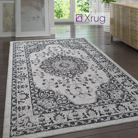 Cotton Rug Runner Grey Black Oriental Rug 100% Natural Large Small Flatweave Washable Carpet Living Room Bedroom Mat