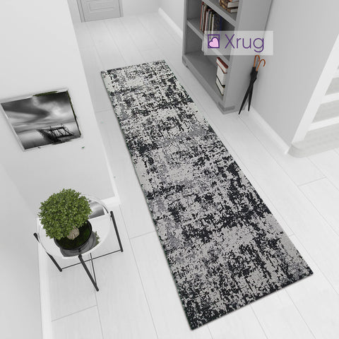 Cotton Runner Rug Abstract Woven Hallway Rug Hall Carpet Long Runner Natural Washable Cotton Area Mat