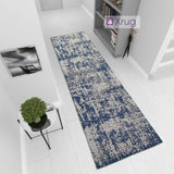 Washable Runner Cotton Rugs Navy Blue Grey Distressed Carpet Natural Hallway Hall 3m Long Rugs 75x300