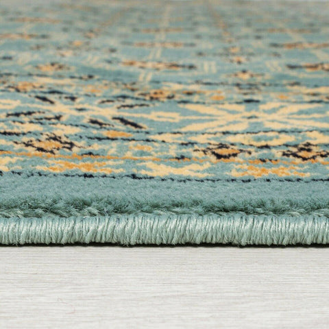 Modern Teal Blue Green Mustard Beige Black Rug Extra Large Small Runner Xl Low Pile Short Piles Soft Carpet Woven Oriental Area Mat Floor Traditional Vintage Rugs Polypropylene 120x170cm 160x230cm 200x290cm 60x230cm