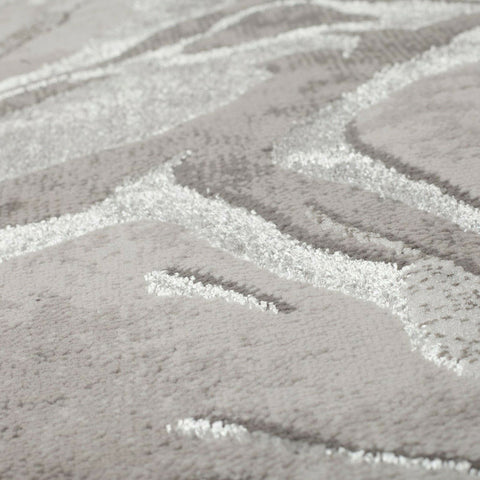 Modern Grey Rug Silver Light Grey Dark Grey White Abstract Pattern Marble Design Short Soft Pile Carpet Polypropylene Bedroom Living Room Lounge Runner Woven Hallway Mat Contemporary Floor New Area Small Extra Large 60x230cm 120x170cm 160x230cm 200x290cm 240x340cm