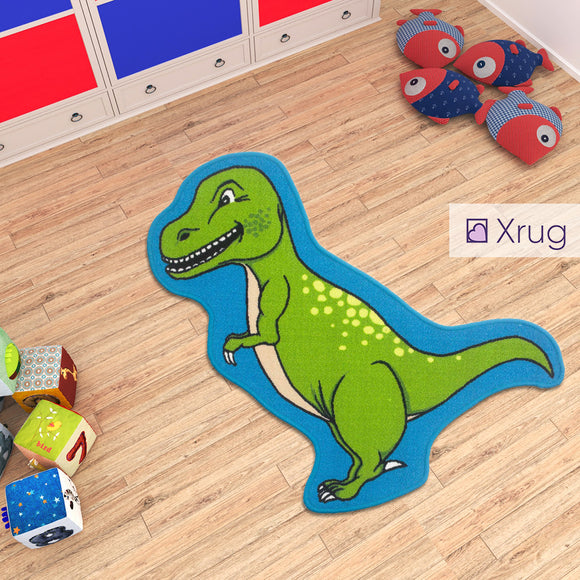 Kids Dinosaur Rug Machine Washable Anti Slip Kids Bedroom Animal Carpet  Playroom Mat