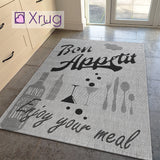 Grey Kitchen Rug Flat Weave Carpet Flat Pile Mat Small Extra Large Hard Wearing Carpet