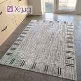 Modern Grey Rug Flat Weave Jute Look Sisal Look Rug Carpet Runner Floor Mat Small Large New