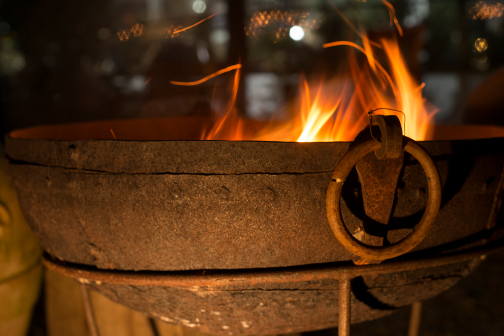 A Kadai at night