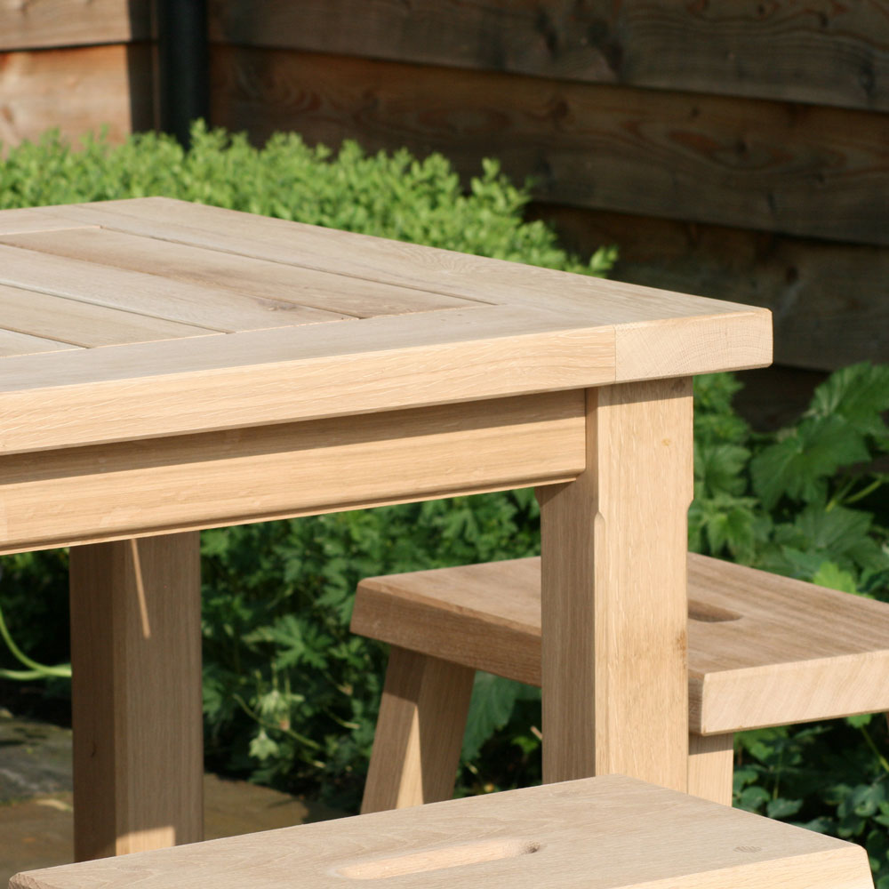 Chadlington 4 Seater Square Oak Table - Rosara Outdoor Style