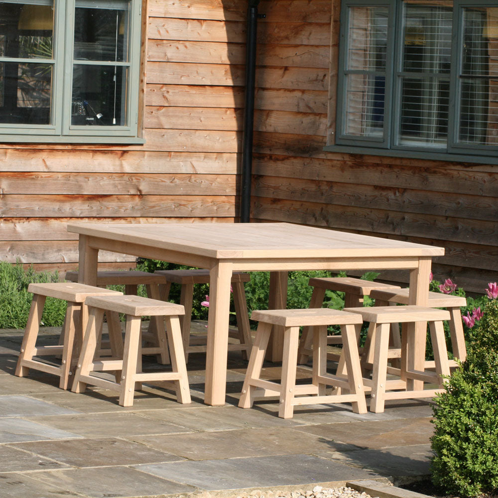 Chadlington 8 Seater Square Oak Table - Rosara Outdoor Style