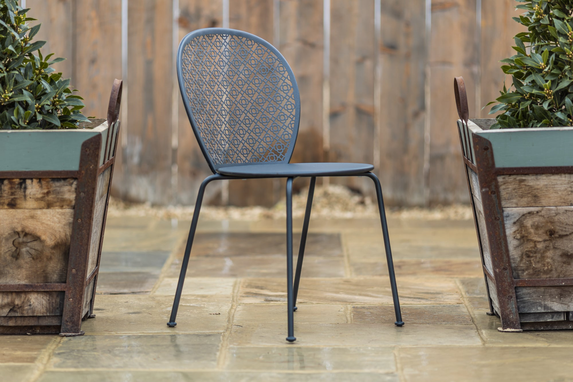 Lorette Stacking Chair Anthracite