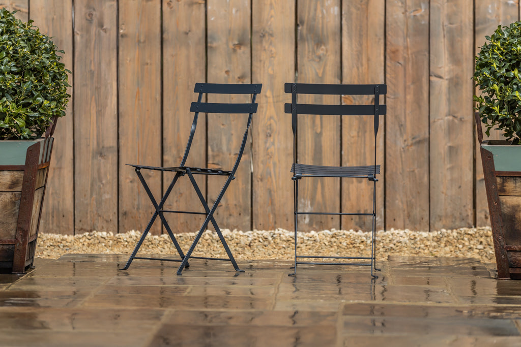 Bistro Folding Chair Anthracite