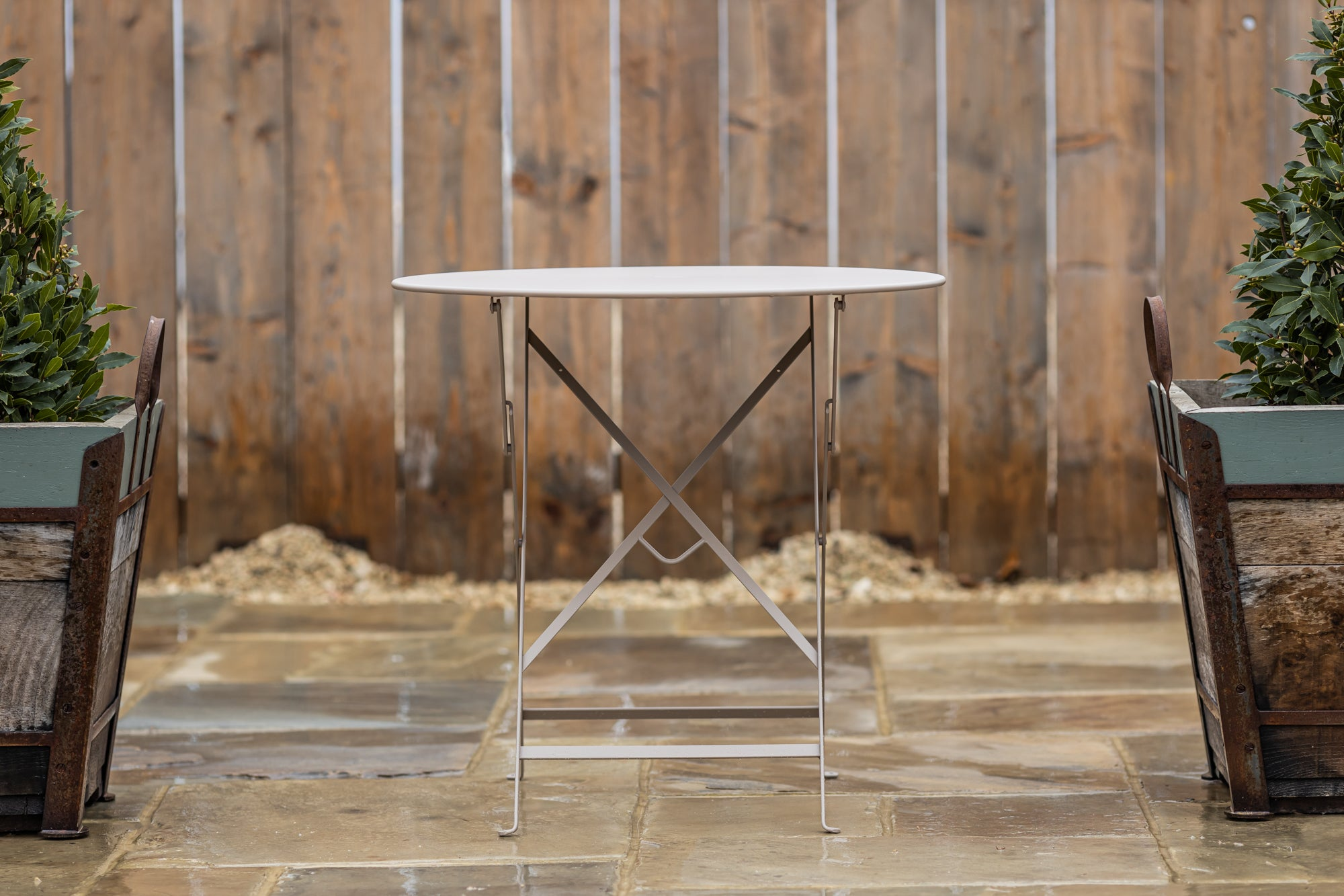 Bistro Folding Table Nutmeg 77cm