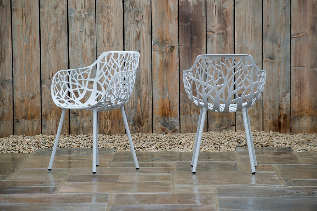 Montpellier Armchair Powder Grey - Rosara Outdoor Style