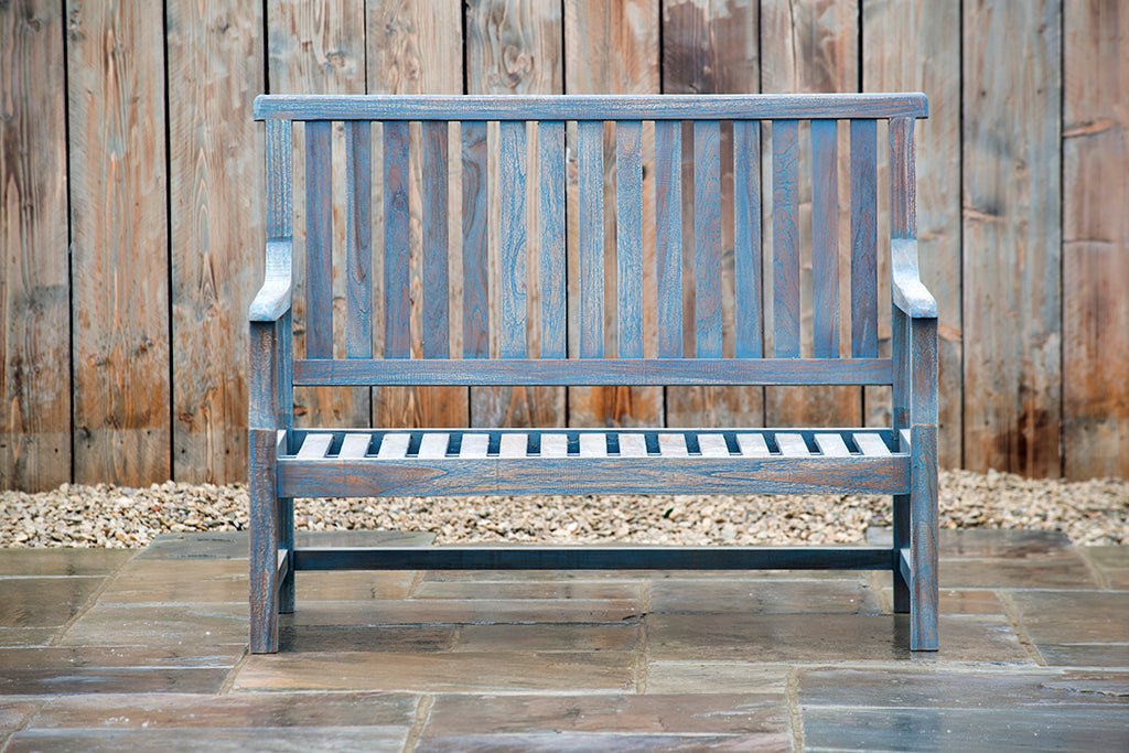 Henley 2 Seat Blue Bench - Rosara Outdoor Style