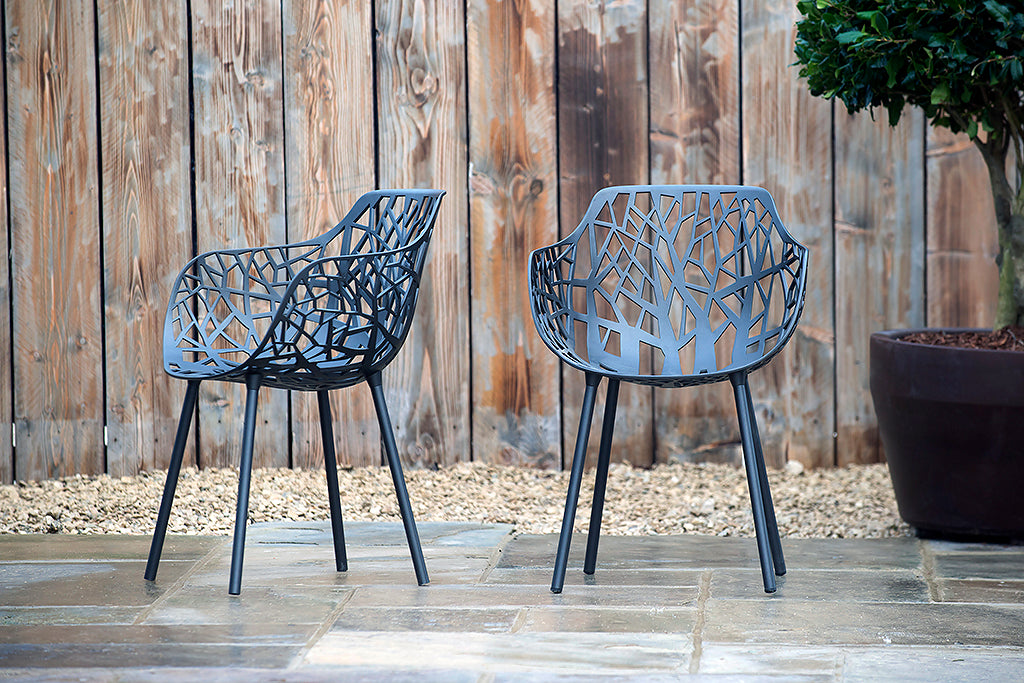 Montpellier Armchair Metallic Grey - Rosara Outdoor Style