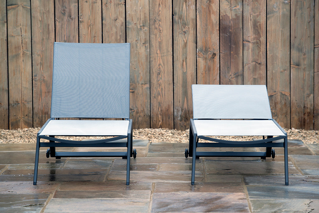 Toulon Sun Lounger Charcoal Stacking - Rosara Outdoor Style
