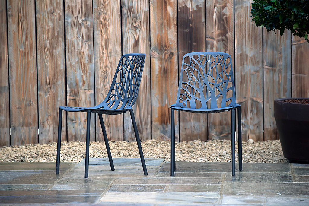 Montpellier Chair Metallic Grey - Rosara Outdoor Style