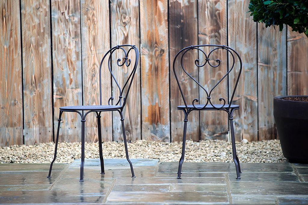 1900 Stacking Chair Russet - Rosara Outdoor Style
